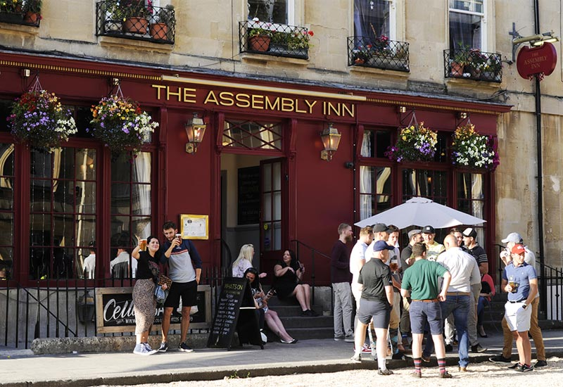 Exterior of Assembly Inn pub in Bath